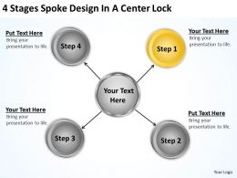 Business Structure Diagram Design Center Lock Powerpoint Templates PPT Backgrounds For Slides