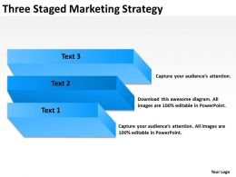 Business Structure Diagram Three Staged Marketing Strategy Powerpoint Templates 0515