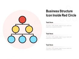 Business Structure Icon Inside Red Circle