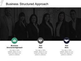 Business Structured Approach Ppt Powerpoint Presentation Infographics Topics Cpb