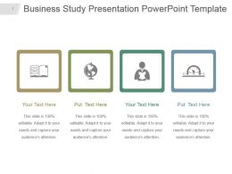 Business Study Presentation Powerpoint Template