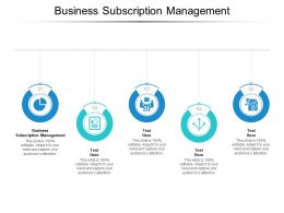 Business Subscription Management Ppt Powerpoint Presentation Portfolio Cpb