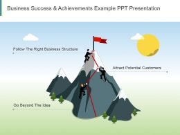 Business Success And Achievements Example Ppt Presentation