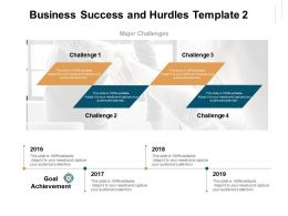 Business Success And Hurdles Goal Achievement Ppt Powerpoint Presentation Sample