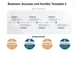 Business Success And Hurdles Major Challenges Ppt Powerpoint Presentation Templates