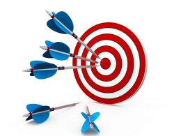 Business Success Concept And Target Stock Photo