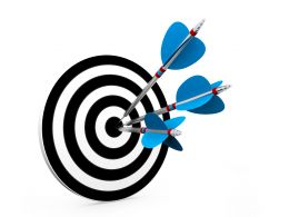 Business Success Concept With Target Stock Photo