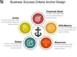 Business Success Criteria Anchor Design Powerpoint Topics