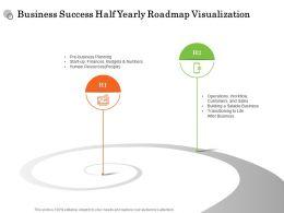 Business Success Half Yearly Roadmap Visualization