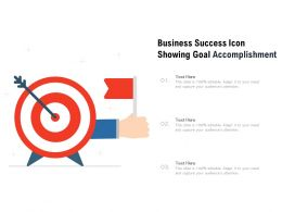 Business Success Icon Showing Goal Accomplishment