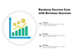 Business Success Icon With Revenue Increase