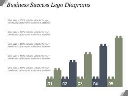 Business Success Lego Diagrams Powerpoint Shapes