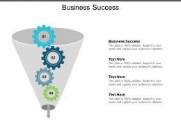 Business Success Ppt Powerpoint Presentation Inspiration Structure Cpb