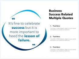 Business Success Related Multiple Quotes