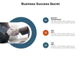 Business Success Secret Ppt Powerpoint Presentation Diagram Graph Charts Cpb