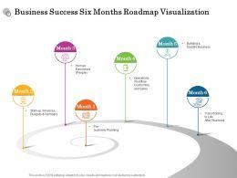 Business Success Six Months Roadmap Visualization