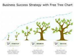 Business Success Strategy With Free Tree Chart