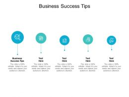 Business Success Tips Ppt Powerpoint Presentation Icon Background Cpb