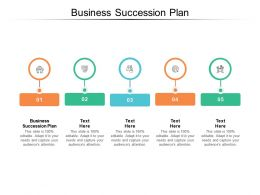 Business Succession Plan Ppt Powerpoint Presentation Deck Cpb