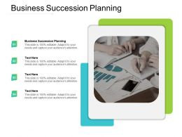 Business Succession Planning Ppt Powerpoint Presentation Model Structure Cpb