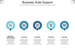 Business Suite Support Ppt Powerpoint Presentation File Layouts Cpb