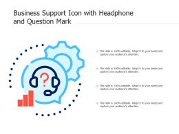 Business Support Icon With Headphone And Question Mark