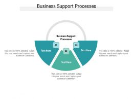 Business Support Processes Ppt Powerpoint Presentation Infographics Slides Cpb