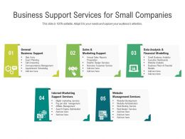 Business Support Services For Small Companies