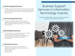 Business Support Services In Information Technology Industry