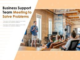 Business Support Team Meeting To Solve Problems