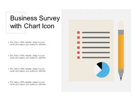 Business Survey With Chart Icon