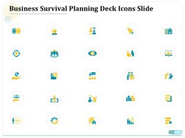 Business Survival Planning Deck Icons Slide Ppt Powerpoint Ideas