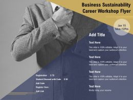 Business Sustainability Career Workshop Flyer