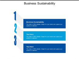 Business Sustainability Ppt Powerpoint Presentation File Gridlines Cpb