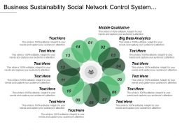 Business Sustainability Social Network Control System Competitive Aggressiveness