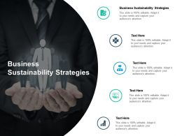 Business Sustainability Strategies Ppt Powerpoint Presentation Layouts Introduction Cpb