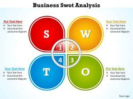 business swot analysis template powerpoint diagram templates graphics 712