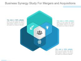 Business Synergy Study For Mergers And Acquisitions Powerpoint Slide