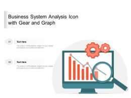 Business System Analysis Icon With Gear And Graph