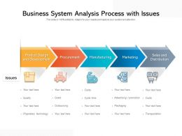 Business System Analysis Process With Issues
