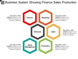 Business System Showing Finance Sales Production