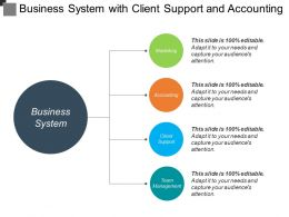 Business System With Client Support And Accounting