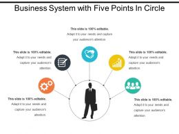 Business System With Five Points In Circle