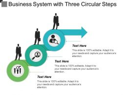 Business System With Three Circular Steps