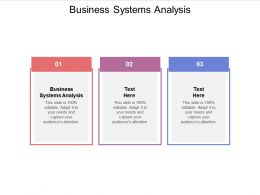 Business Systems Analysis Ppt Powerpoint Presentation Gallery Good Cpb