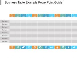 Business Table Example Powerpoint Guide