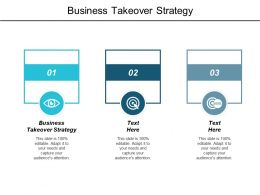 Business Takeover Strategy Ppt Powerpoint Presentation Infographics Background Designs Cpb