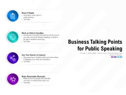 Business Talking Points For Public Speaking