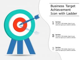 Business Target Achievement Icon With Ladder