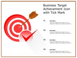 Business Target Achievement Icon With Tick Mark